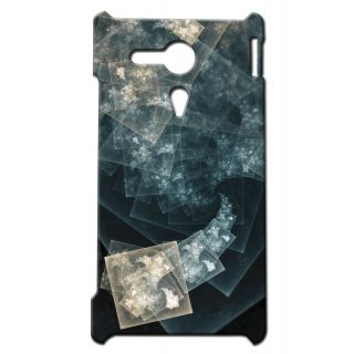 Pickpattern Back Cover For Sony Xperia SP SPARKLINGSQUARESSP