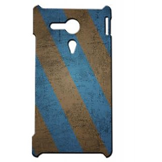 Pickpattern Back Cover For Sony Xperia SP RAVENCLAWSTRIPESSP