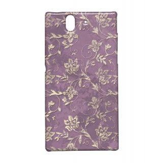 Pickpattern Back Cover For Sony Xperia Z MAUVEGOLDXZ