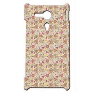 Pickpattern Back Cover For Sony Xperia SP RETROFLOWERSSP