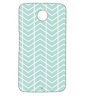 Pickpattern Back Cover For Motorola Google Nexus 6 CHEVRONSTRIPEN6