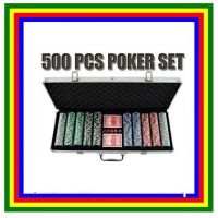 500pcs Professional Poker Sports Club Game Set