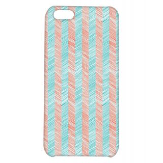 Pickpattern Back Cover For Apple iPhone 5C ORANGEBLUEI5C