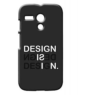 Pickpattern Back Cover For Motorola Moto G 1st Gen DESIGNBLACKMG3D