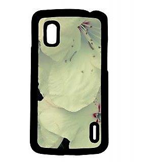 Pickpattern Back Cover For LG Google Nexus 4 WHITEBLOOMN4
