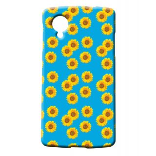 Pickpattern Back Cover For LG Google Nexus 5 SUNFLOWERBLUEN5