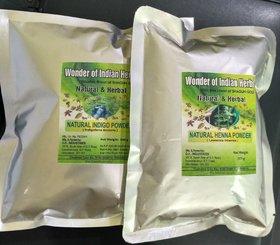 Indigo Powder + Henna Powder Combo 200G X 2 For Hair Color
