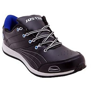 Just Go Men Designer Funky Black Blue Sports Shoes 624