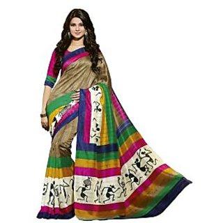 Bhavi Printed Mysore Silk Sari (BHVP12543)