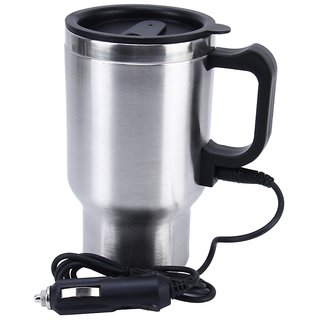 12V Stainless Steel Mug Coffee Tea Water Cup Auto Car Charger Electric Heater