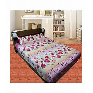 Thefancymart Printed Double Bed sheet(1 Double Bed Sheet With 2 Pillow Cover)