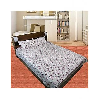 Thefancymart 100% cotton Double Bed sheet(1 Double Bed Sheet With 2 Pillow )