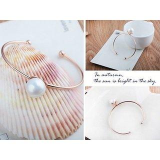 European  American Jewellery Fashion Pearl Metal Bracelet-1 Qty