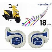 Speedwav Mocc Scooter 18 in 1 Digital Tone Magic Horn Set Of 2-Honda Dio