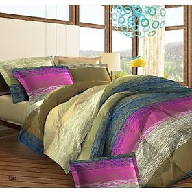 Bombay Dyeing Double Bedsheet Multicolor