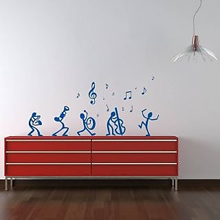 Dancing Notes Wall Sticker DN003M (Blue)