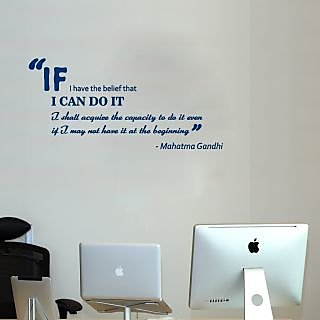 Gandhi Quote Wall Sticker GA003L (Blue)