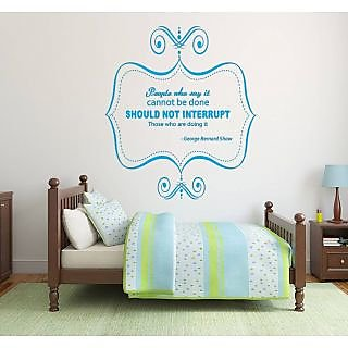 GB Shaw Quote Wall Sticker GS002M (Blue)