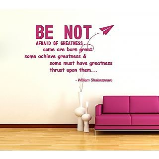 Shakespeare Quote Wall Sticker SH002S (Pink)