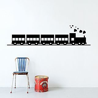 The Train Wall Sticker TT001M (Black)