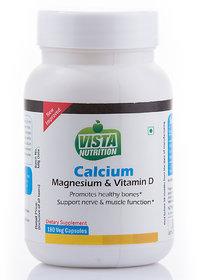 Vista Nutrition Calcium + Magnesium + Vitamin D - 180 Capsules