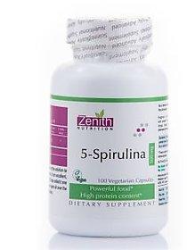 Zenith Nutrition 5-Spirulina 500mg - 100 Capsules
