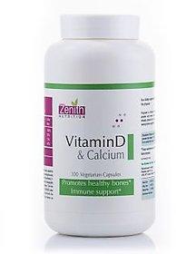 Zenith Nutrition Vitamin-D  Calcium - 300 Capsules