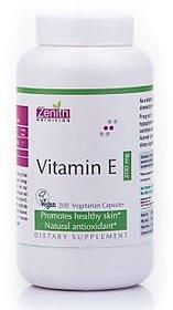 Zenith Nutrition Vitamin-E 200mg - 200 Capsules