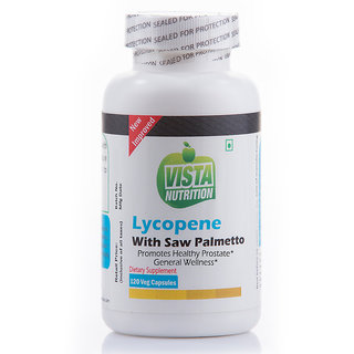 Vista Nutrition Lycopene With Saw Palmetto  120 Capsules