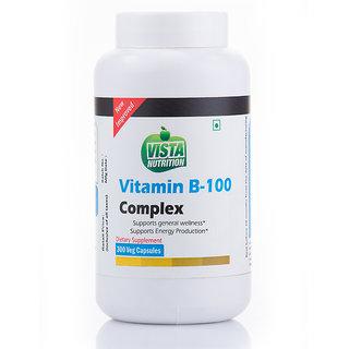 Vista Nutrition Vitamin B-100 Complex  300 Capsules