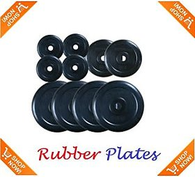 10 Kg Spare Rubber Weight Plates with Bush