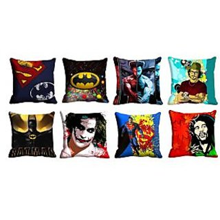 meSleep 8pc Multi 3D Cushion Covers