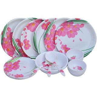 CZAR 24 PIC NEW DINNER SET-Pink Flower 1006