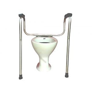 Pedder Johnson Invalid Aluminium Toilet Safety Rail - 1 Dia Pipe