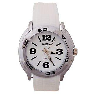 Custom Wrist Watches: Formal Watch :White Dial (A0661GWhite)