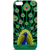 Peacock - iPhone 5 / iPhone 5S Case Hard Rubberized High Quality Mobile Case