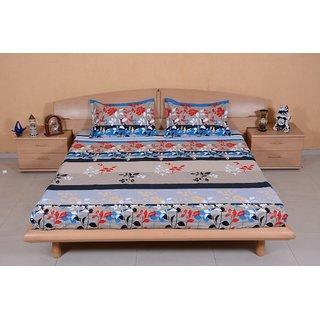 DIVINE CASA 100  Cotton Satin Reactive Double Bedsheets