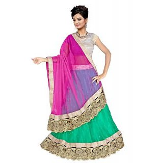 Textile Shopee- Green Designer lehenga