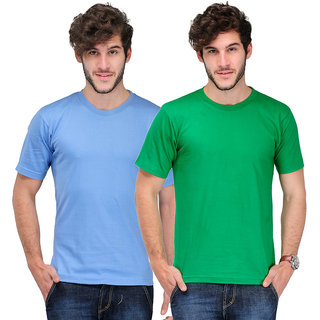 TSX Men's Multicolor Round Neck T-Shirt (Pack of 2)