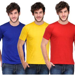 TSX Men's Multicolor Round Neck T-Shirt (Pack of 3)
