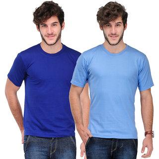 TSX Men's Multicolor Round Neck T-Shirt (Pack of 2)