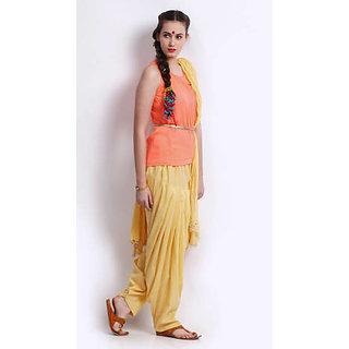 Skin Color Women Full Patiyala Salwar