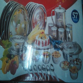 High Quality Stainless Steel Dinner Set Of 57 Pcs