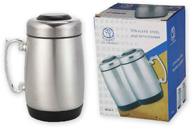 Blue Birds Stainless Steel Mug with Stainer