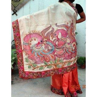 Handpainted saree