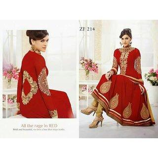 Heavy Work Red Fancy Anarkali Designer Suit