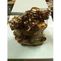 Feng Shui Good Luck Laughing Buddha On Dragon
