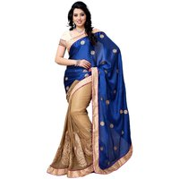 Four Seasons Blue Embroidery Saree With Blouse FS5030