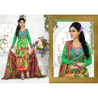 cotton  printed salwar kamej  dupatta suit (Unstitched)