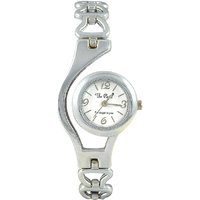 The Pari Round Dial Silver Metal Strap Analog Watch For Women